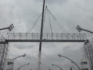 Sistema BRS de Layher para el carnaval de Brasil