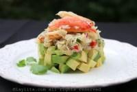 Salada de caranguejo com abacate