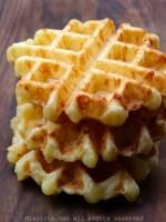 Receita de waffles de pão de queijo