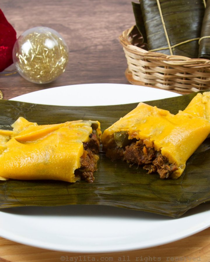 Hallacas o tamales venezolanos para Navidad