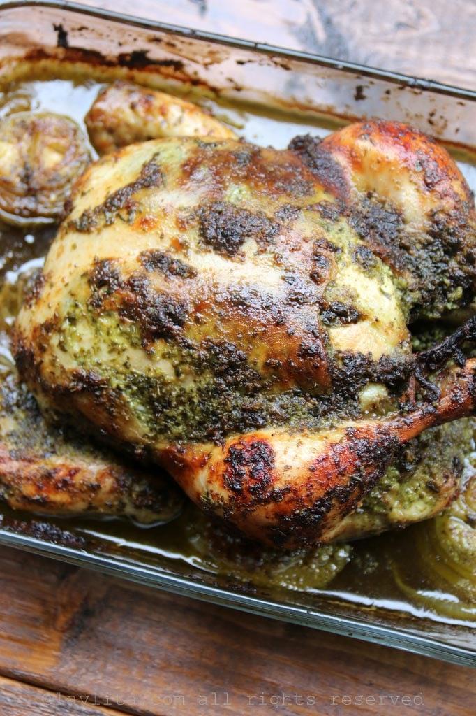 Poulet rôti à la sauce chimichurri