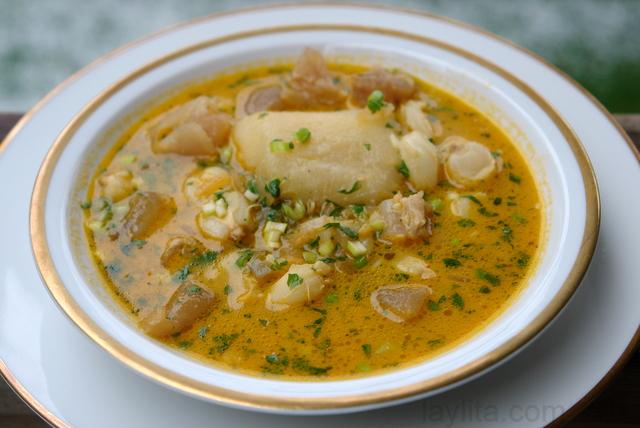 Caldo de pata recipe or cow feet soup recipe