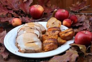 Présentation du porc rôti et de sa sauce
