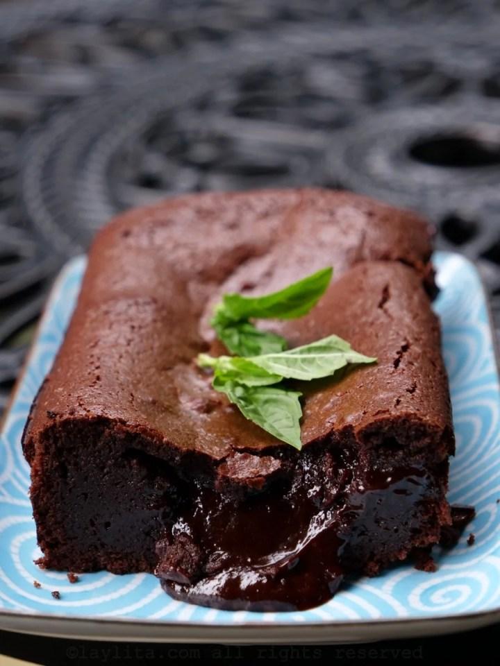 French molten chocolate cake