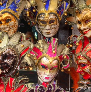 Máscaras Venecianas para el Carnaval de Venecia