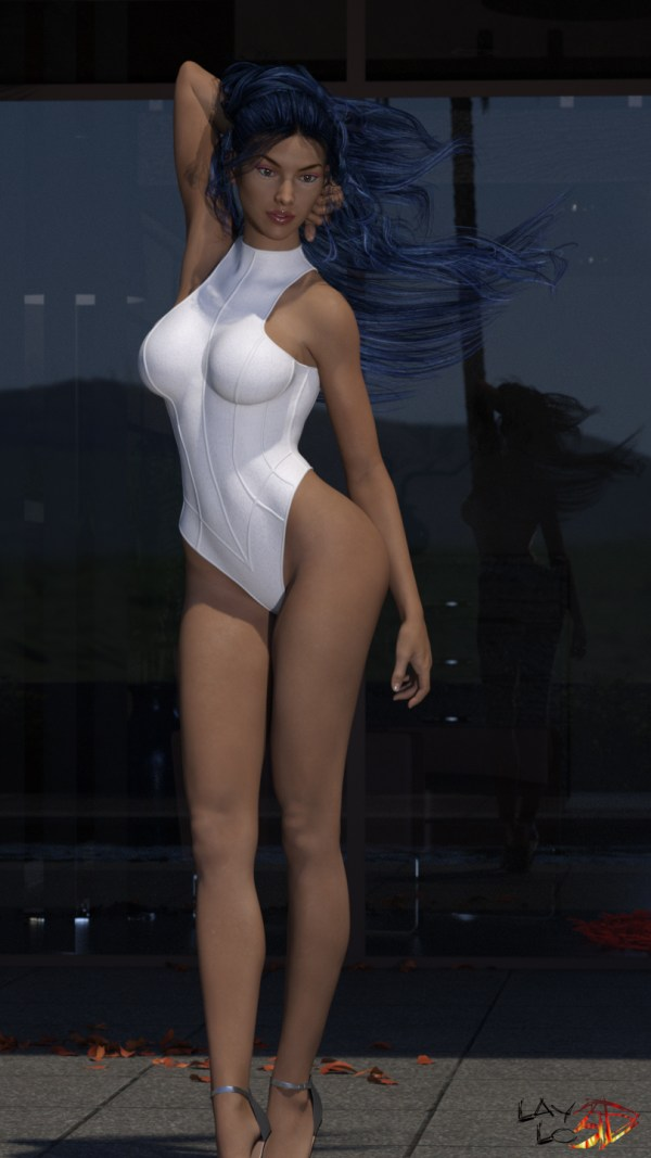 Ribbed Superhero Bodysuit for Genesis 3 Female(s)
