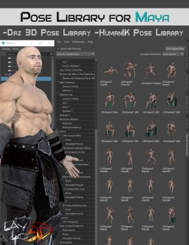 LayLo3D Pose Library for Maya