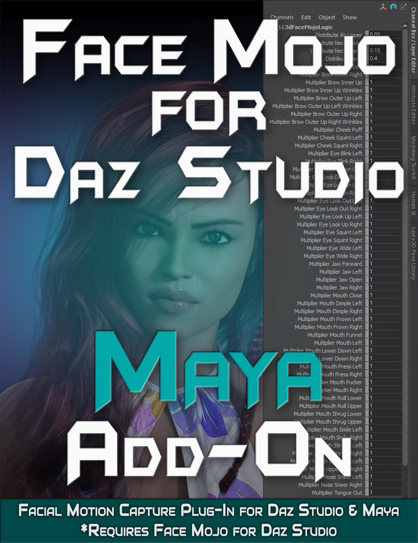 LayLo3D-Face-Mojo-for-Daz-Studio-Maya-Add-On