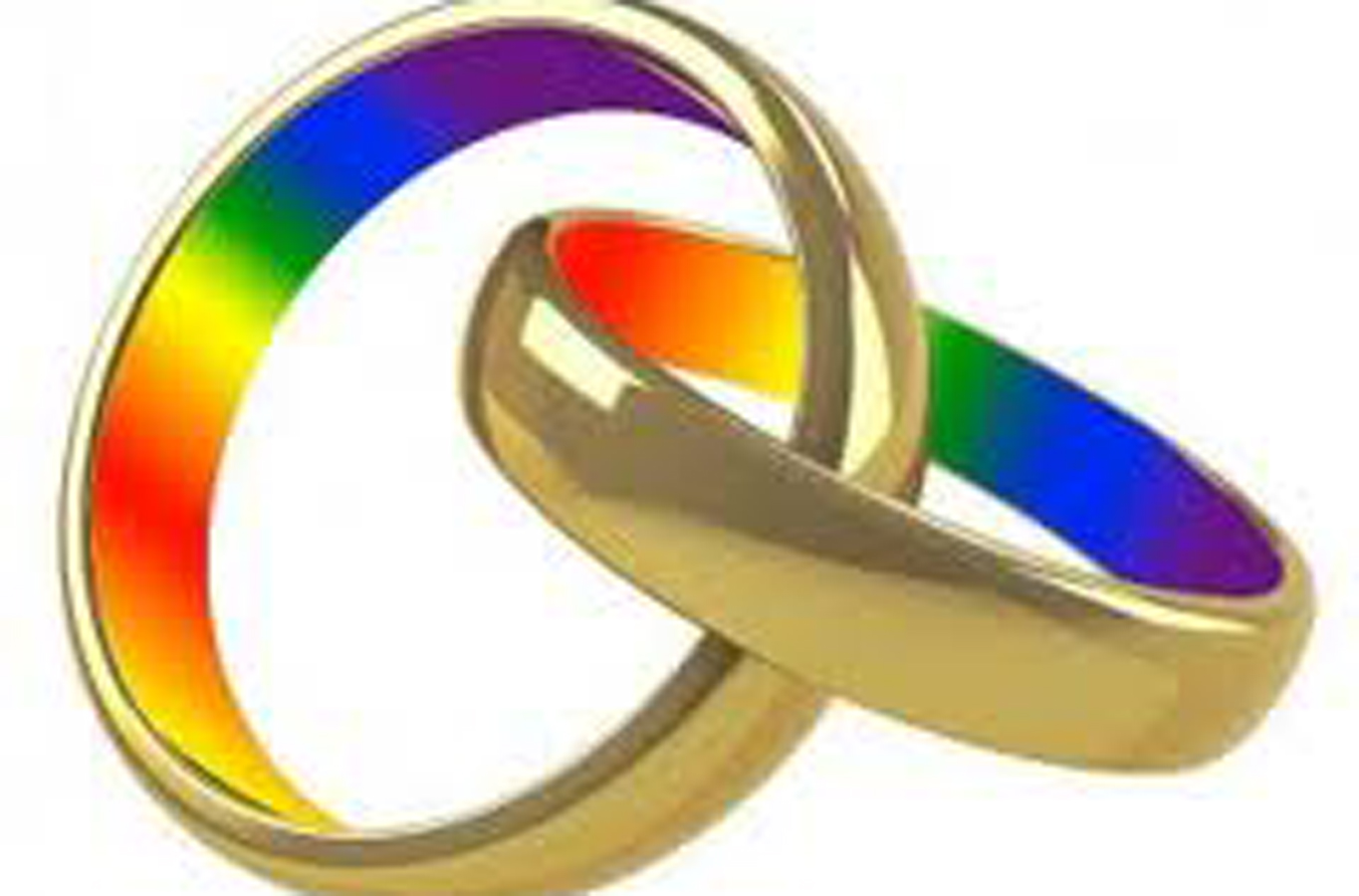 black wedding rings rainbow beautiful
