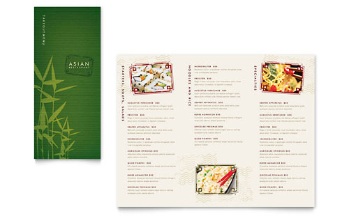 8 5x11 A4 Menu Templates Word & Publisher Templates