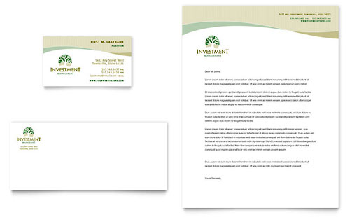 Investment & Wealth Management Business Card Templates
