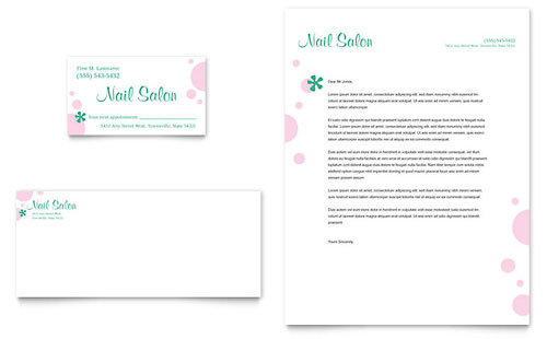 Nail Salon Brochure Template Word & Publisher