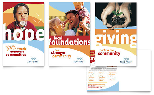Community Non Profit Flyer & Ad Template Word & Publisher