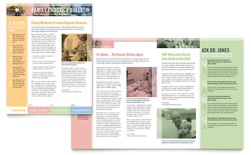 Medical & Health Care Newsletter Templates Word