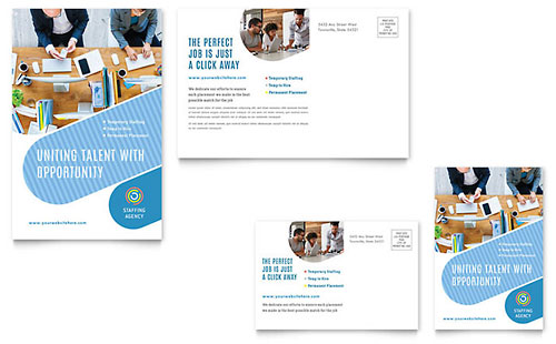 Employment Agency Tri Fold Brochure Template Word