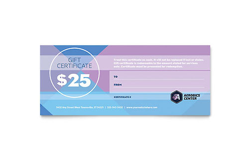 Free Gift Certificate Template - Download Word & Publisher Templates