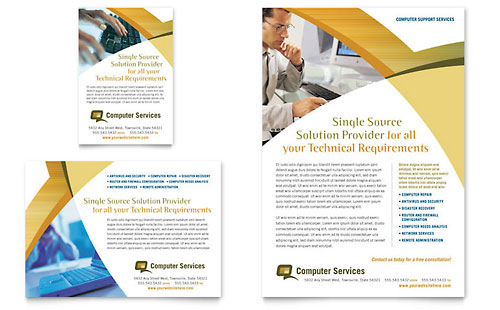 Computer Services & Consulting Flyer & Ad Template Word