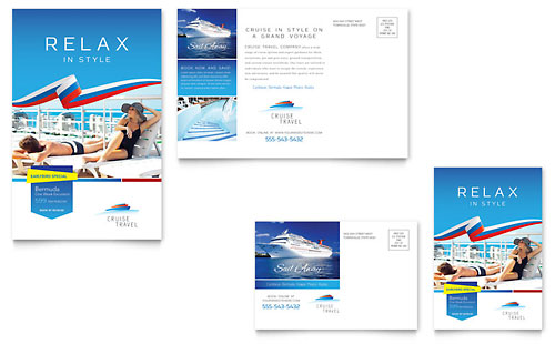 Cruise Travel Brochure Template Word Amp Publisher