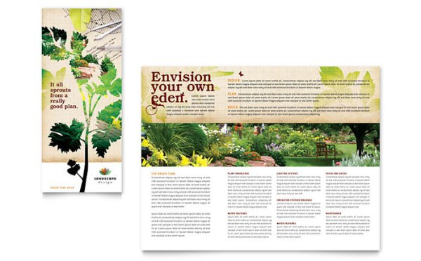 landscape design tri fold brochure