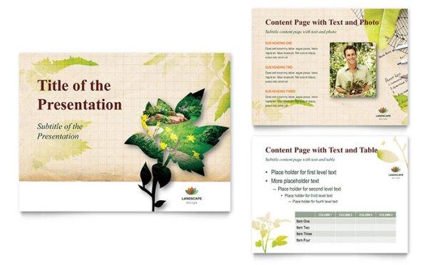 landscape design powerpoint presentation