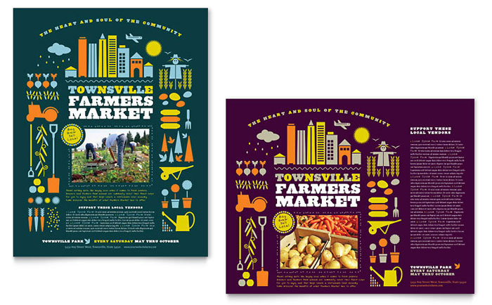 Farmers Market Poster Template Word Amp Publisher