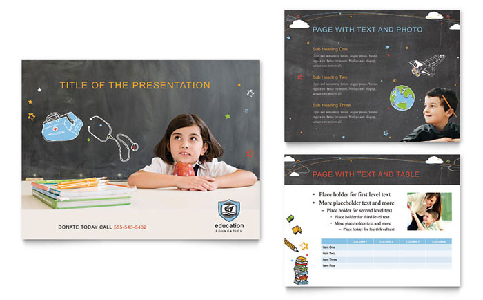 Education Foundation & School PowerPoint Presentation