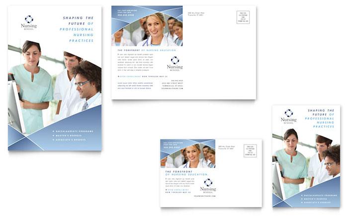 Nursing School Hospital Postcard Template  Word  Publisher