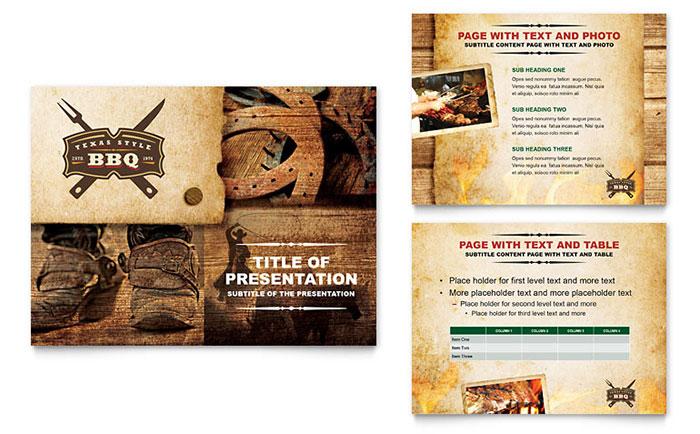 Steakhouse BBQ Restaurant PowerPoint Presentation