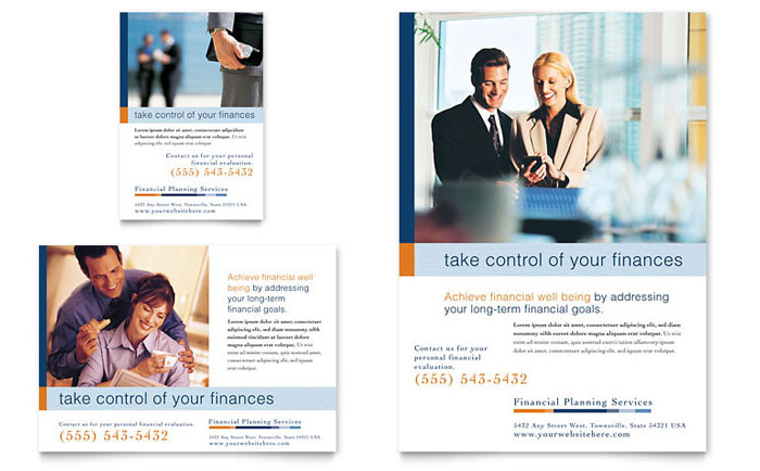 Financial Planning & Consulting Flyer & Ad Template Word