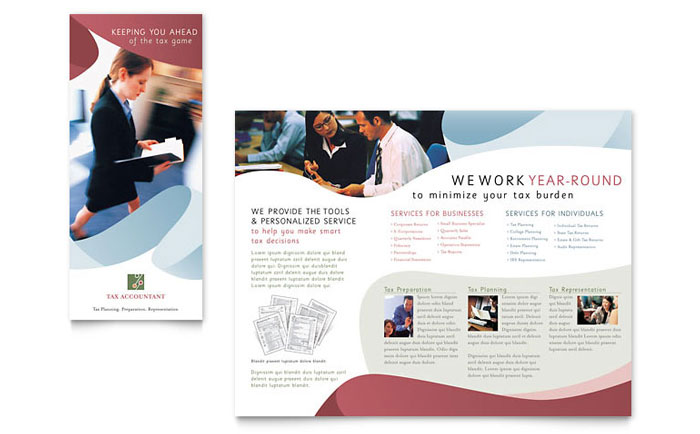 Tax Accounting Services Brochure Template Word & Publisher