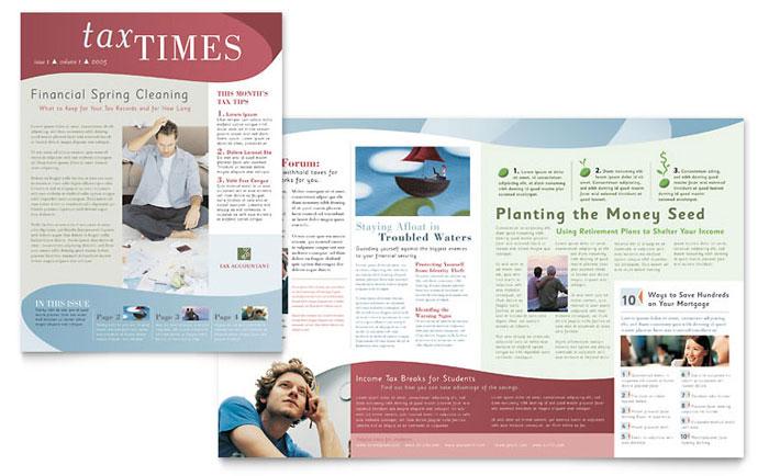 publisher template newsletter