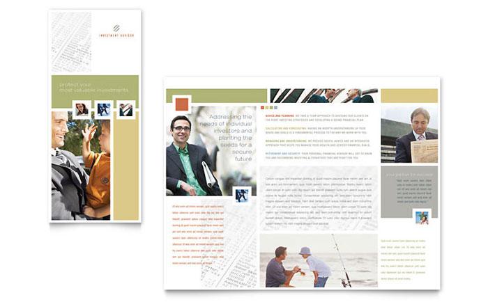 Investment Advisor Brochure Template Word & Publisher