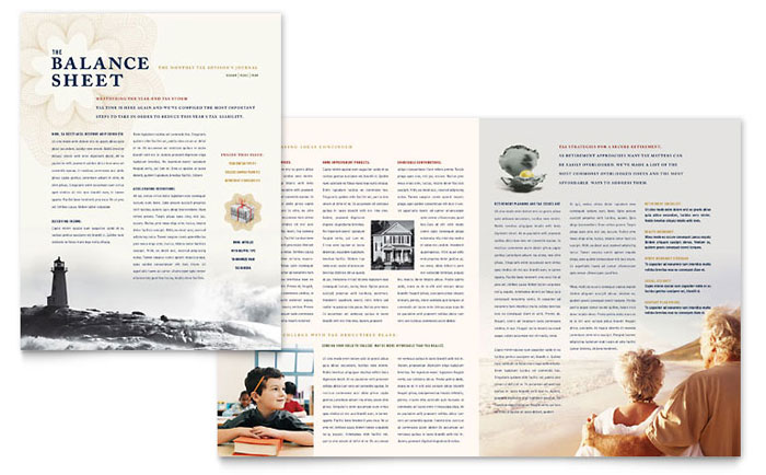 Travel agencies are advised to use. Cpa Tax Accountant Newsletter Template Word Publisher