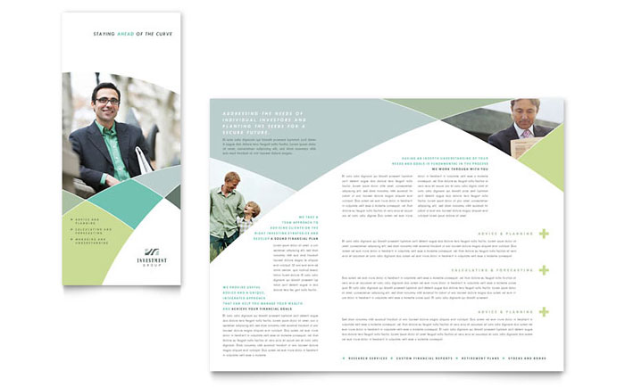 Financial Advisor Brochure Template Word & Publisher
