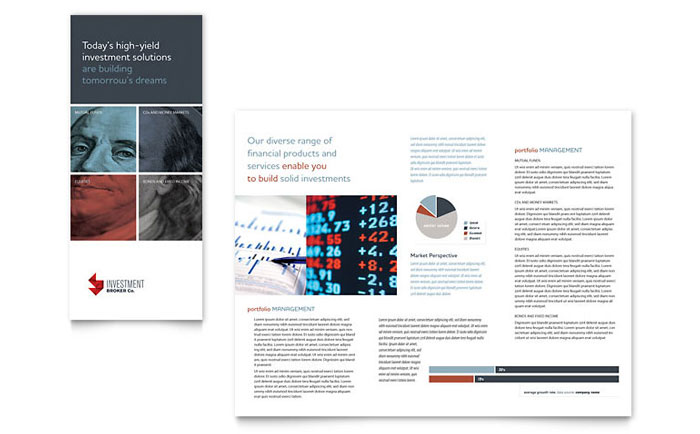 Investment Bank Tri Fold Brochure Template Word & Publisher