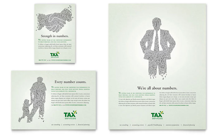 Accounting & Tax Services Flyer & Ad Template Word
