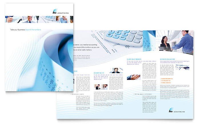 Accounting Firm Brochure Template Word & Publisher