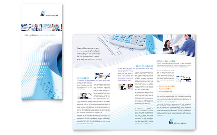Accounting Firm Tri Fold Brochure Template Word & Publisher