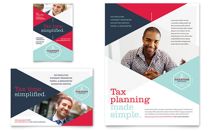 Tax Preparer Flyer & Ad Template Word & Publisher
