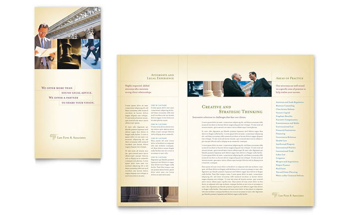 Attorney & Legal Services Brochure Template Word & Publisher