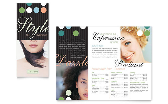 Beauty & Hair Salon Brochure Template Word & Publisher