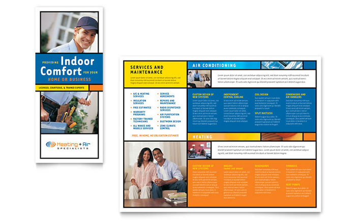 Heating & Air Conditioning Brochure Template Word