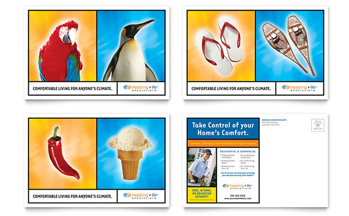 Heating & Air Conditioning Postcard Template Word
