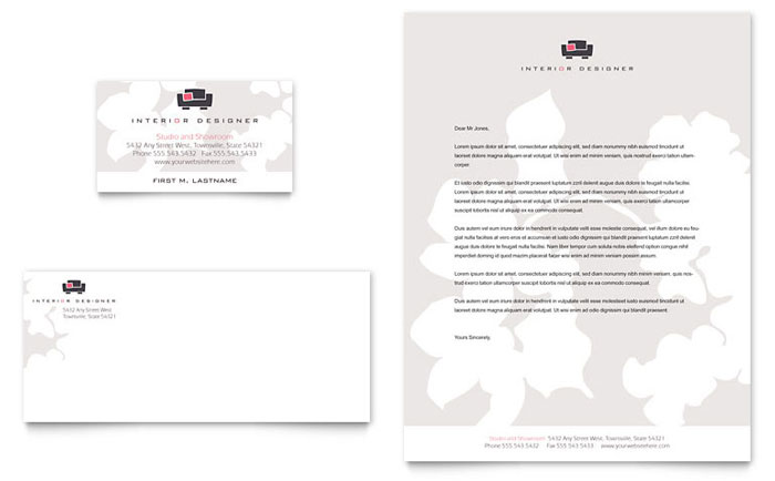 Interior Designer Business Card & Letterhead Template