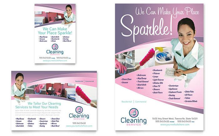 housekeeping flyer templates