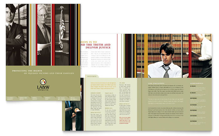 Lawyer & Law Firm Brochure Template Word & Publisher