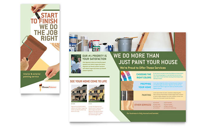 Painter & Painting Contractor Brochure Template Word