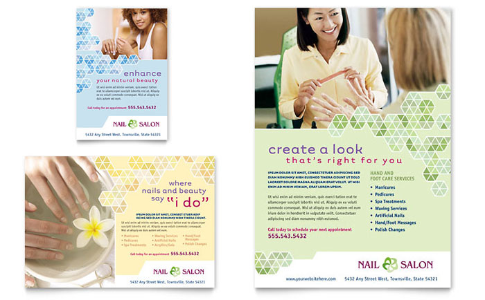 Nail Salon Flyer & Ad Template Word & Publisher