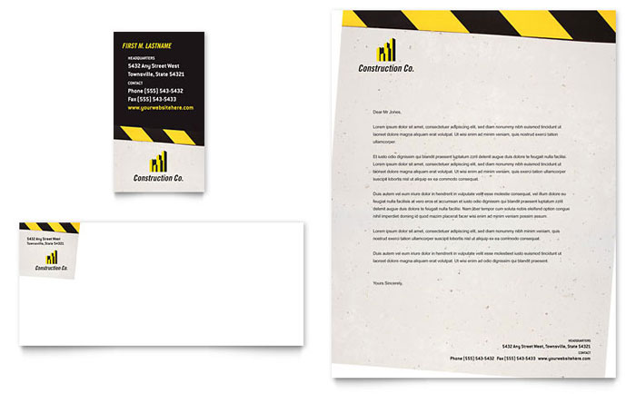 Industrial & Commercial Construction Business Card
