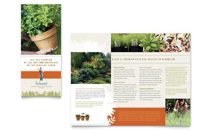 Landscape & Garden Store Brochure Template Word & Publisher